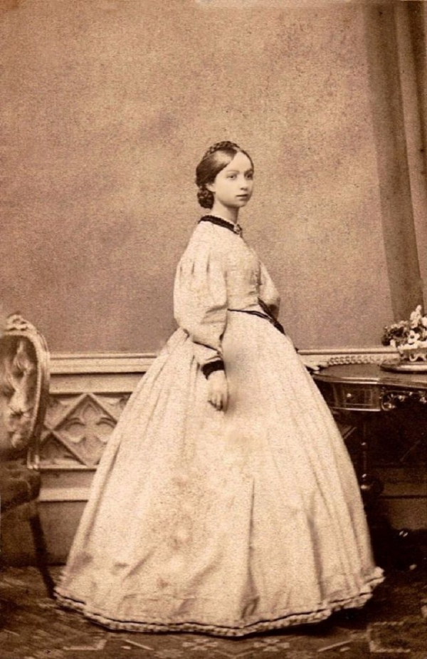 girls dresses in the 1860s 1