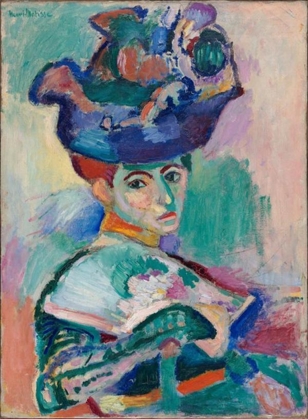 henri matisse woman with a hat 1905 photo sfmoma via wikimedia commons public domain
