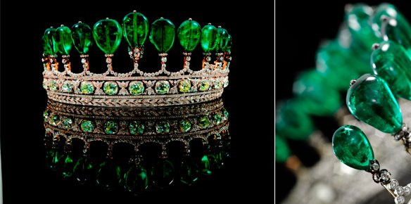 2768 emerald and diamond tiara sold for andpound8 million