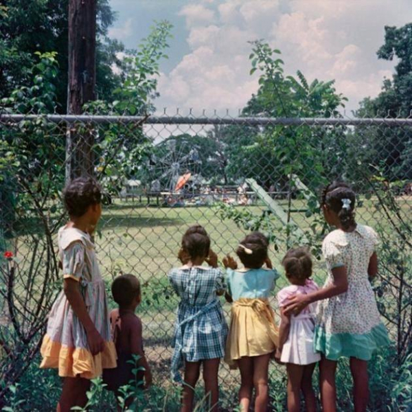 black children observed a leisure area only for white children