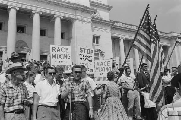 demonstration against inter racial marriage