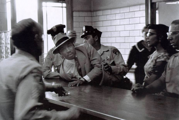 martin luther king being arrested for vagrancy in 1960