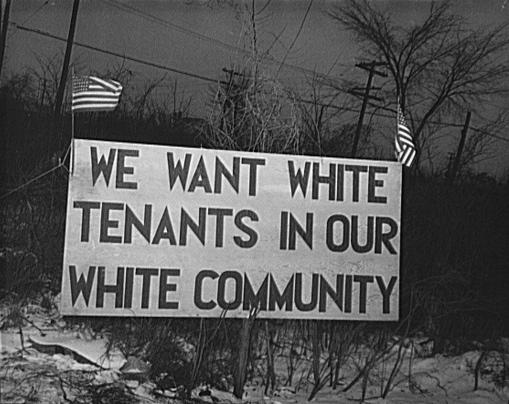we want white tenants
