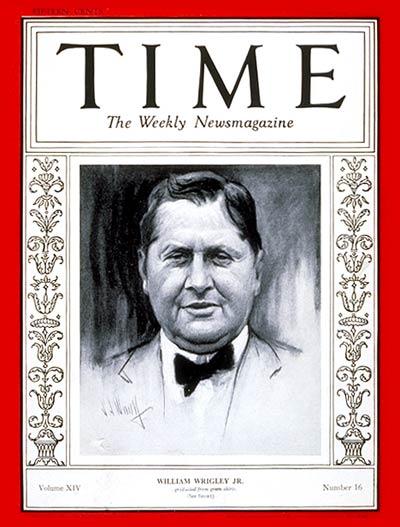 time magazine cover william wrigley jr
