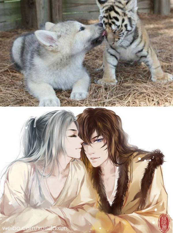 chinese artist creates human version of adorable kittens 5c1b5552e56d8 700
