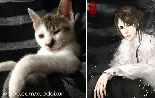 chinese artist creates human version of adorable kittens 5c1b5554e2ad9 700
