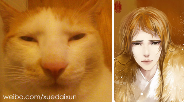 chinese artist creates human version of adorable kittens 5c1b5556ce891 700