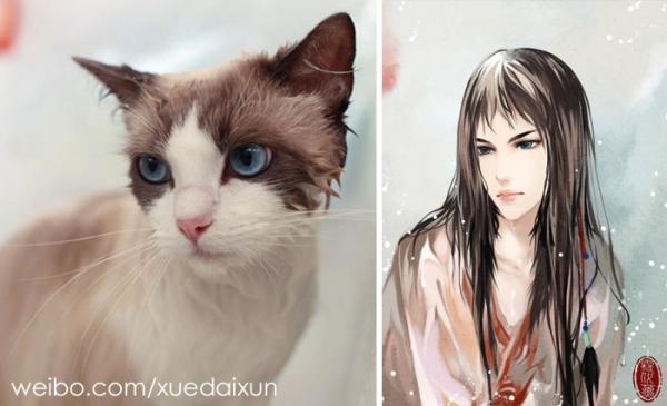 chinese artist creates human version of adorable kittens 5c1b555b2952f 700