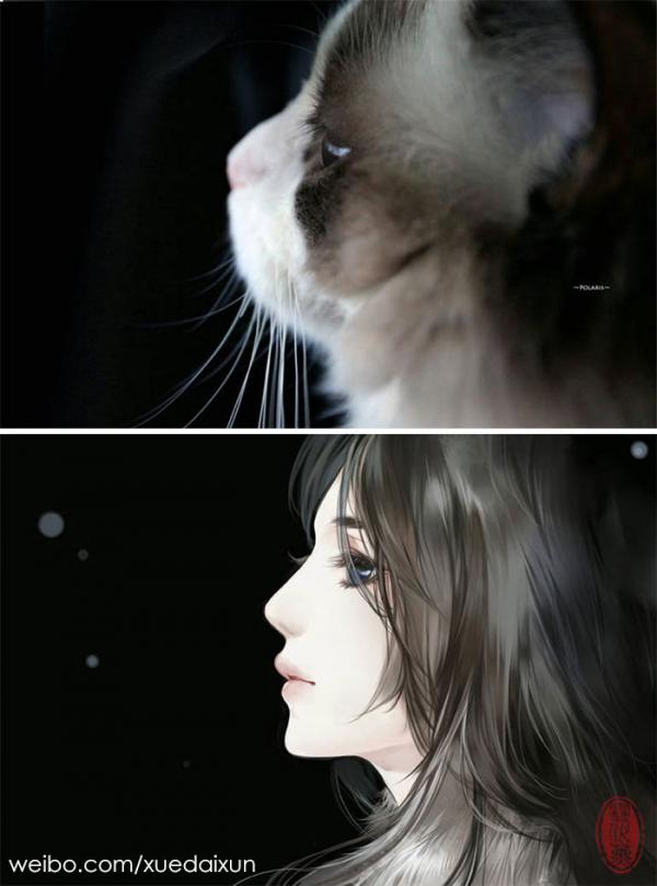 chinese artist creates human version of adorable kittens 5c1b557b5df6c 700