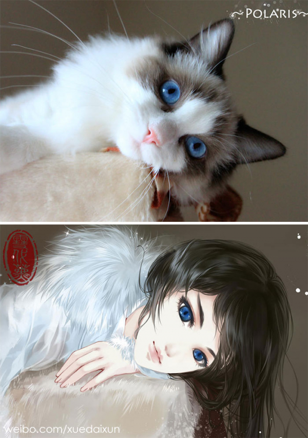 chinese artist creates human version of adorable kittens 5c1b557d23608 700