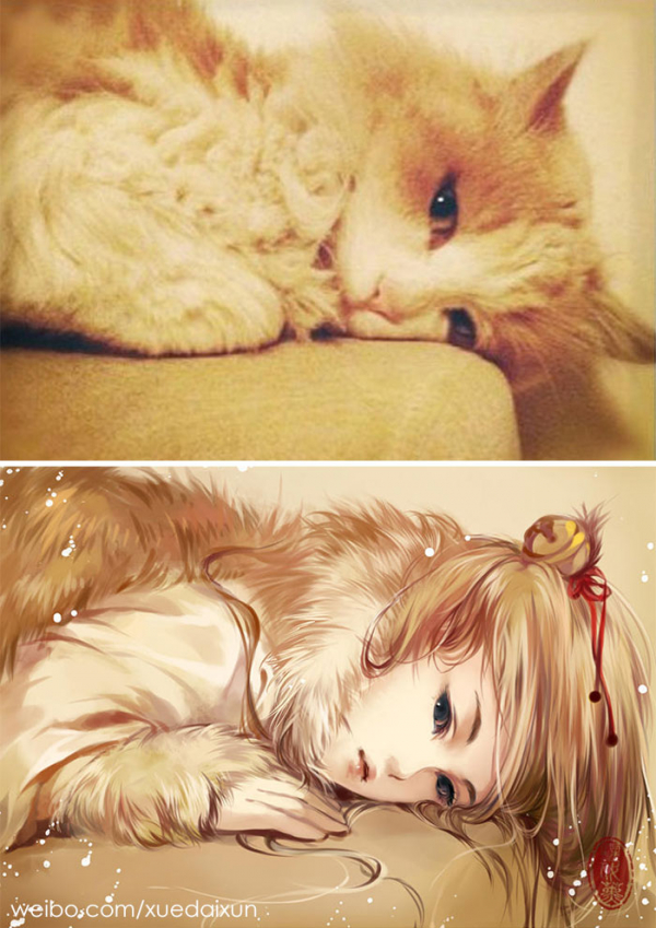 chinese artist creates human version of adorable kittens 5c1b557f1a0d5 700