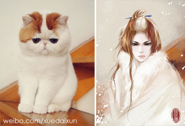 chinese artist creates human version of adorable kittens 5c1b55830a0a6 700