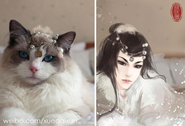 chinese artist creates human version of adorable kittens 5c1b55852266b 700