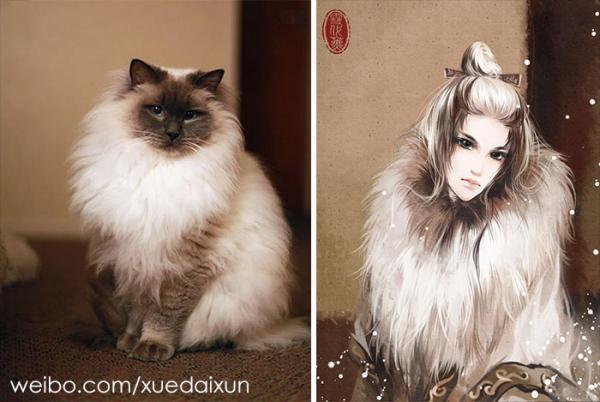 chinese artist creates human version of adorable kittens 5c1b5586e58bb 700