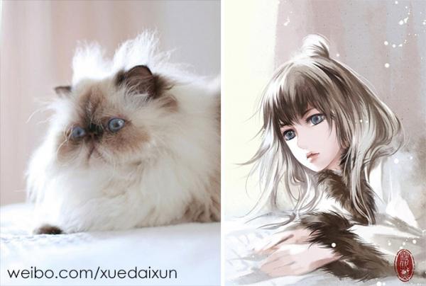 chinese artist creates human version of adorable kittens 5c1b5588f28eb 700