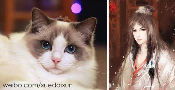 chinese artist creates human version of adorable kittens 5c1b558aed769 700