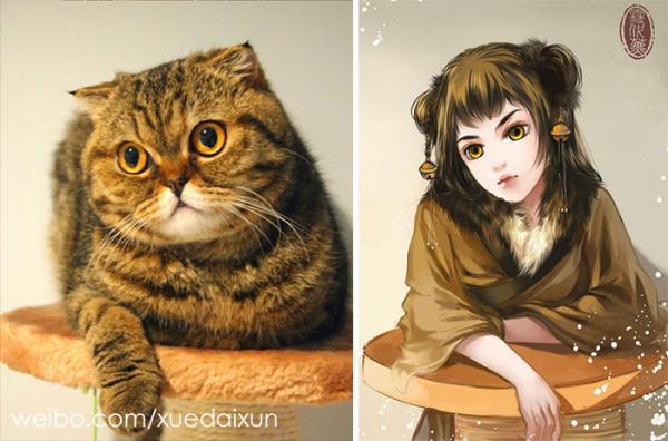chinese artist creates human version of adorable kittens 5c1b558c86f60 700