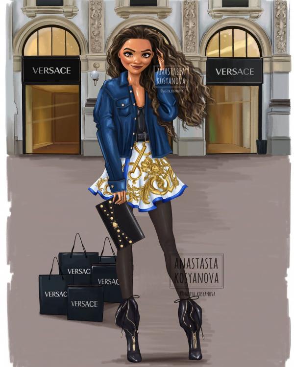 russian artist turns disney princesses into modern fashionistas 5c3678d93253d 880