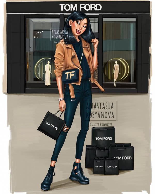 russian artist turns disney princesses into modern fashionistas 5c3679255eb14 880