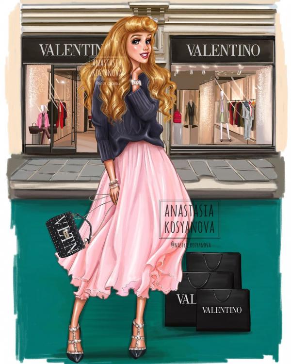 russian artist turns disney princesses into modern fashionistas 5c3679447f126 880