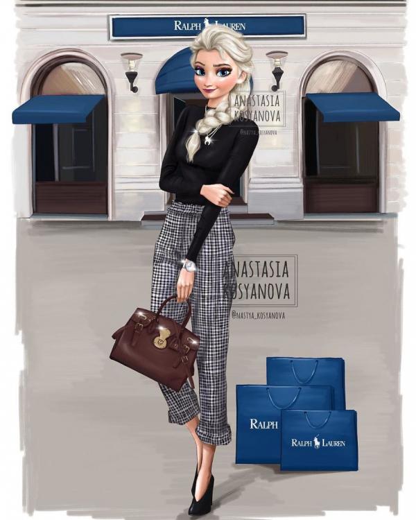 russian artist turns disney princesses into modern fashionistas 5c3679bab67ee 880