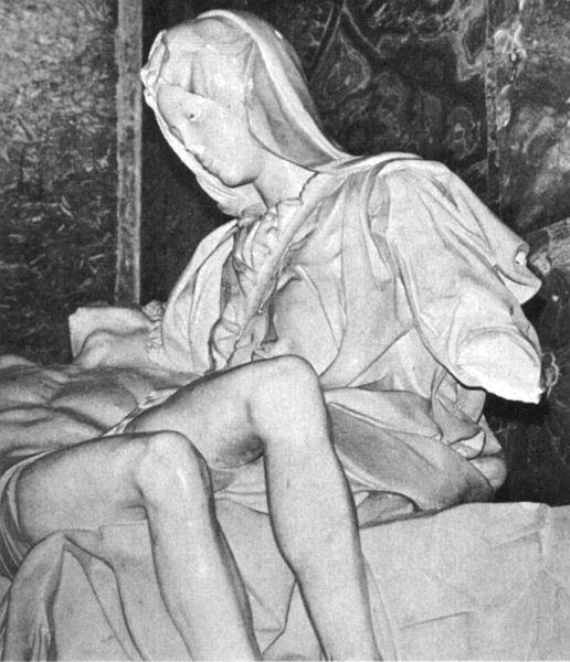 pieta vaticana dopo il vandalismo 1972