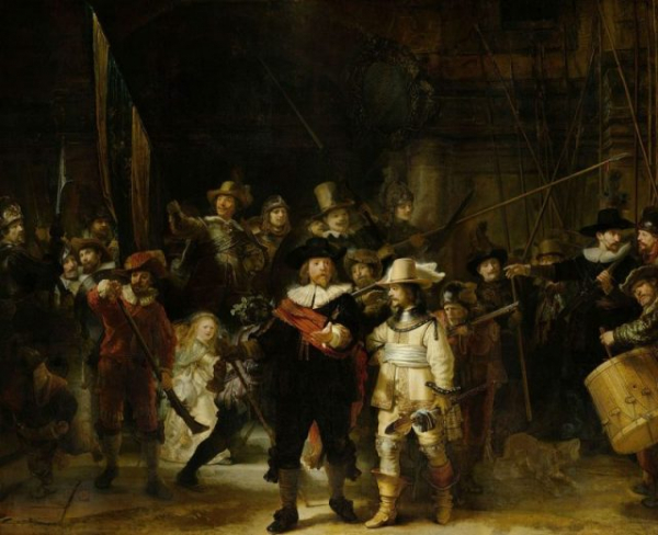 the nightwatch by rembrandt 640x521