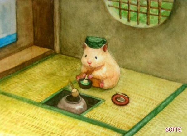 artist illustrates the typical life of a japanese hamster and the result is very cute 5c47fd527148a 700