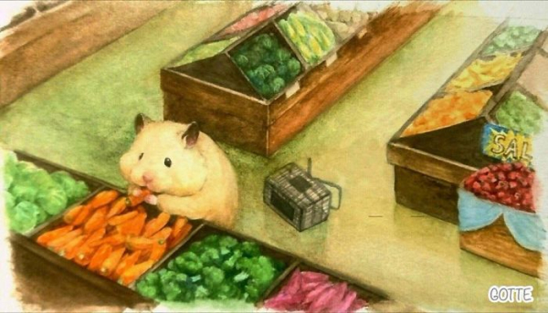 artist illustrates the typical life of a japanese hamster and the result is very cute 5c47fd5bb3178 700