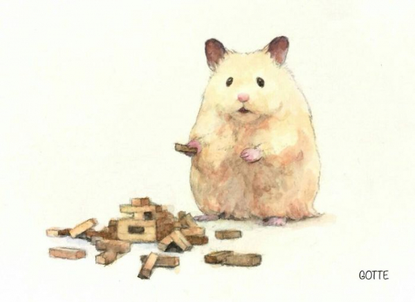 artist illustrates the typical life of a japanese hamster and the result is very cute 5c47fd7f7a75b 700