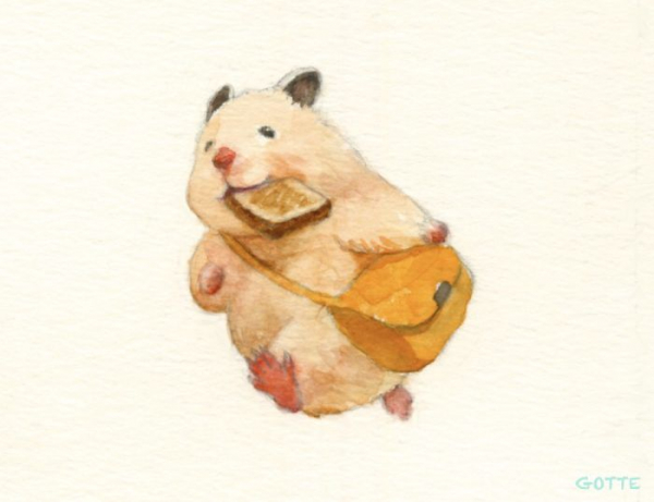 artist illustrates the typical life of a japanese hamster and the result is very cute 5c47fdfc4750d 700