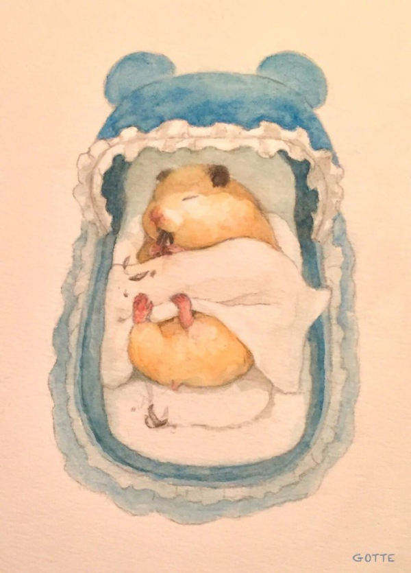 artist illustrates the typical life of a japanese hamster and the result is very cute 5c47fe5450e3c 700