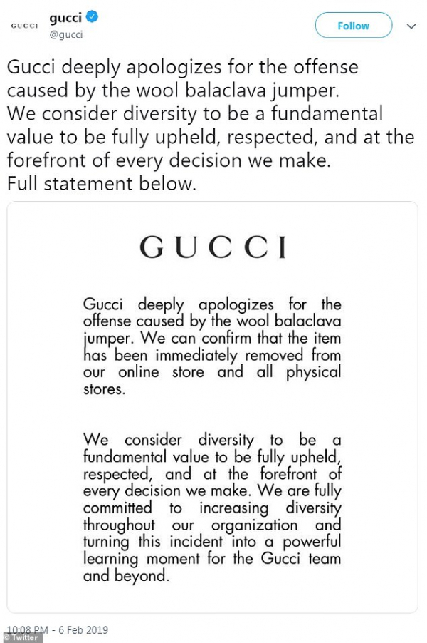 9497144 6676289 gucci took to twitter to apologize for the jumper and added that a 7 1549529900593