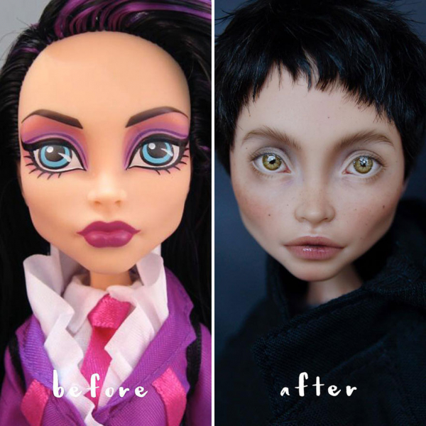 ukrainian artist continues to remove the makeup of dolls and re creates them with an incredibly real look 5c63e11084a4a 880