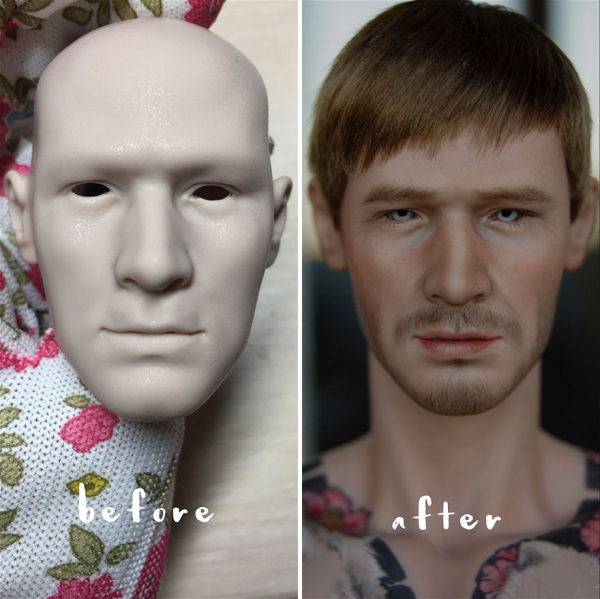 ukrainian artist continues to remove the makeup of dolls and re creates them with an incredibly real look 5c63e1223ef4b 880