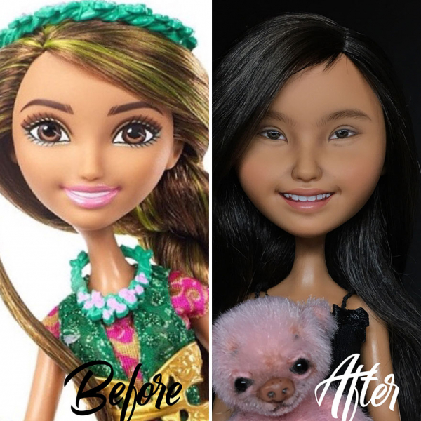 ukrainian artist continues to remove the makeup of dolls and re creates them with an incredibly real look 5c63e12c01a9b 880