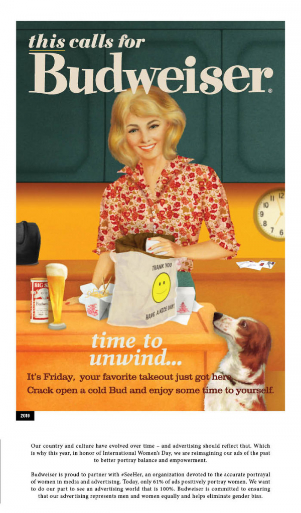 in honor of the women budweiser revisits their sexist advertisements of the 50s 5c8586ba6e7ab 700