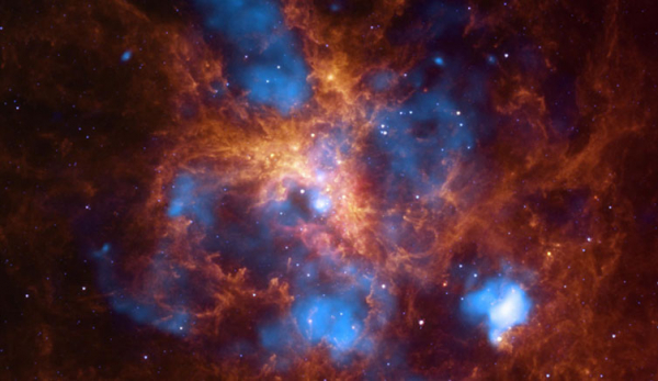 doradus star forming region two column