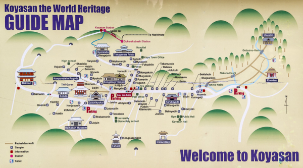 unesco world heritage koya san map