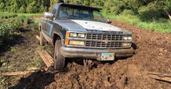 7 truck in manure 1