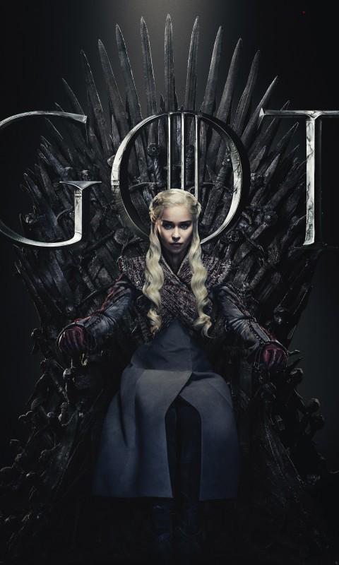 daenerys targaryen 480x800 emilia clarke game of thrones season 8 17507