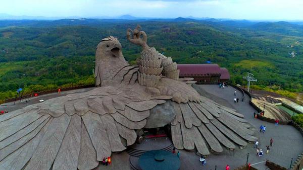 largest bird statue jadayupara jatayu earth centre india 3 5cb990adad5df 700