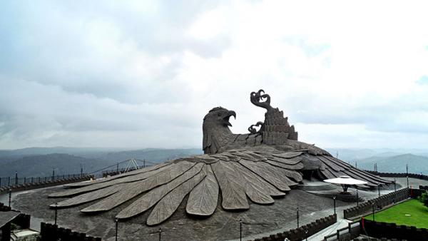 largest bird statue jadayupara jatayu earth centre india 5 5cb990b3a7119 700