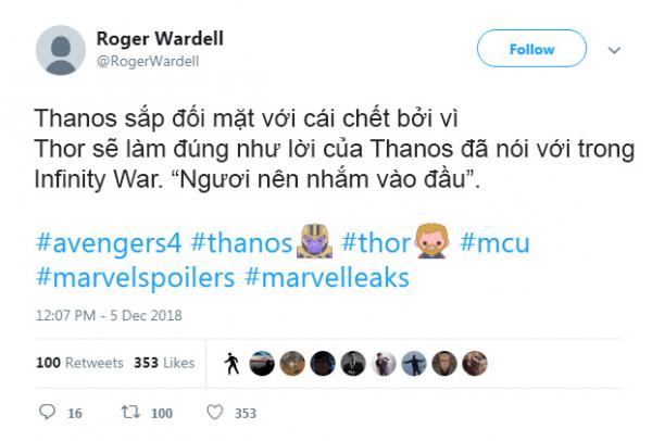 thor avengers endgame twitter 1