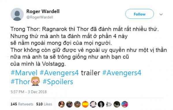 thor avengers endgame twitter