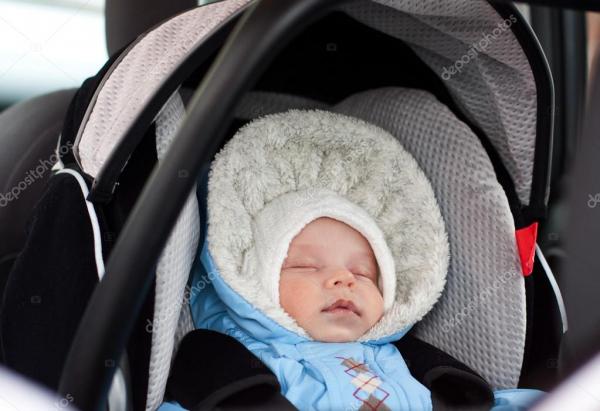 depositphotos 23546949 stock photo newborn sleeping in the car
