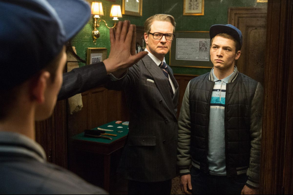 colin firth and taron egerton in kingsman the secret service 2014 large picture 0