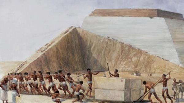 Kết quả hình ảnh cho pharaoh xây lăng mộ