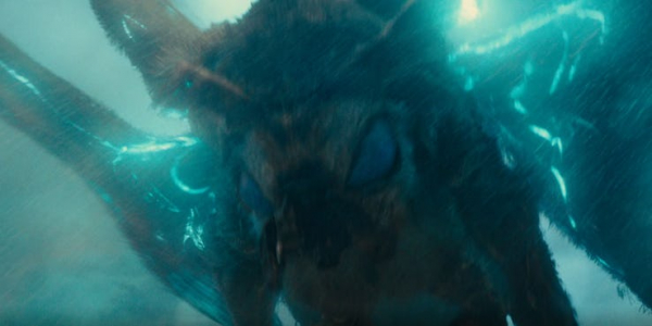 close up look at mothra in godzilla king of the monsters