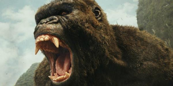kong skull island movie roaring